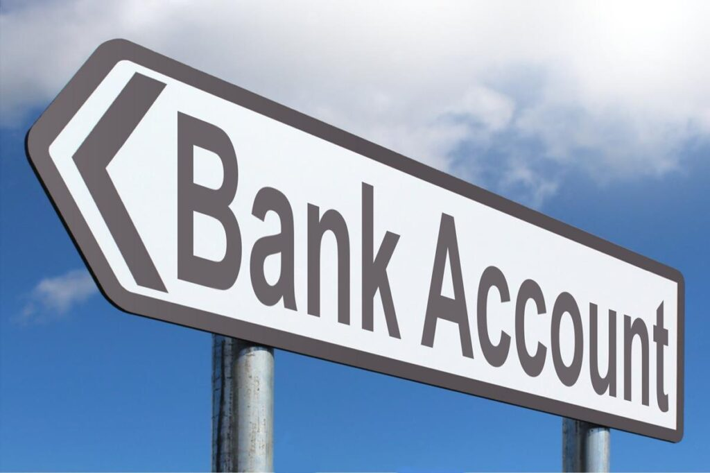 personal bank accounts street sign